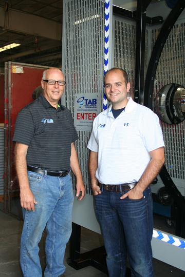 Tom Brizek, Andy Brizek TAB Industries with TAB Wrapper Tornado