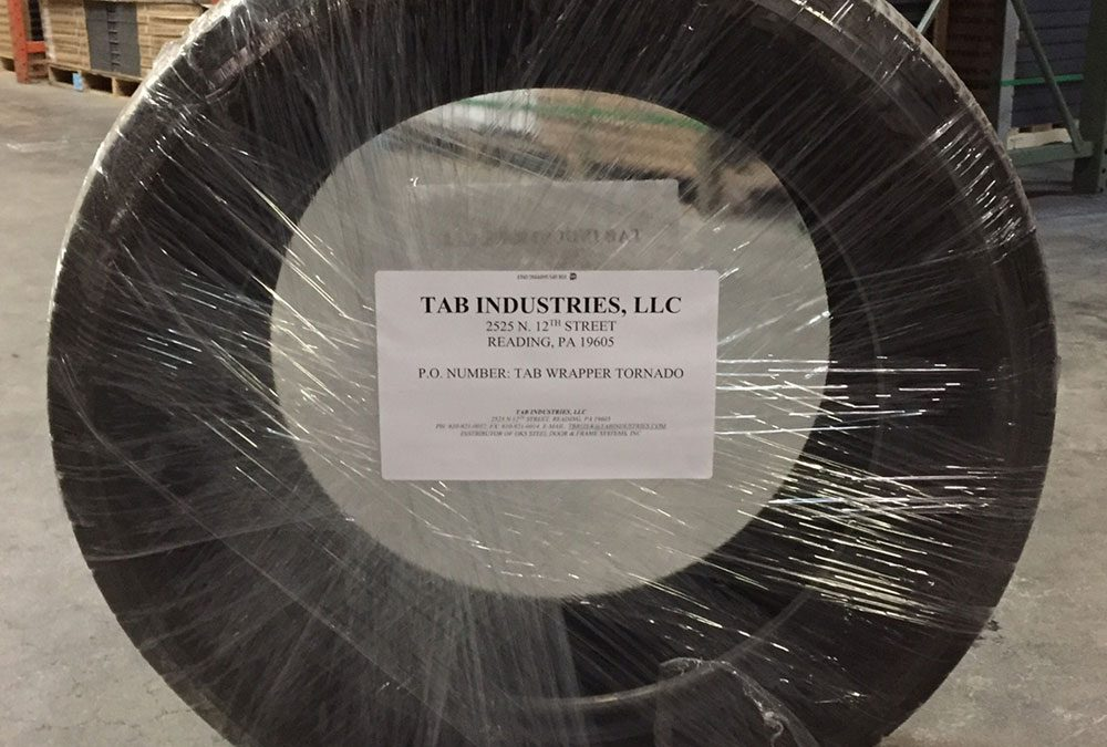Tire wrapped by TAB Wrapper Tornado
