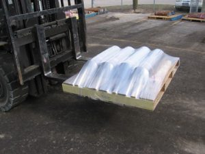 TAB Wrapper Tornado wrapped pallet pipes