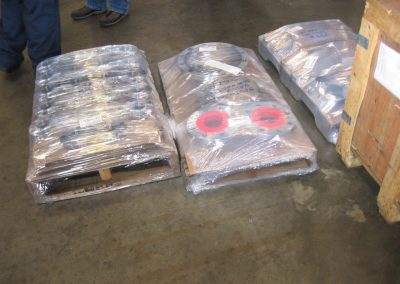 Pallets of Wrapped Gaskets