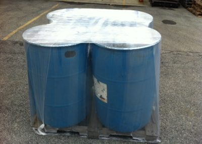 Wrapped 55 Gallon Drums