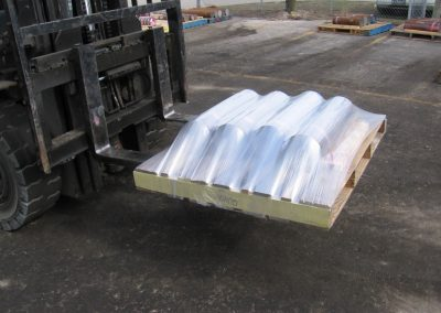 Wrapped Pallet of Cut Pipe