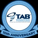 TAB Wrapper Tornado 10th anniversary logo
